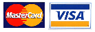 Visa and Mastercards payments accepted